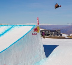 Danny Davis at Snowpark, NZ during the Burton High Fives 2012