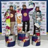 Womens podium at the O'Neill Pleasure Jam 2012: 1. Aimee Fuller 2. Isabell Derungs 3. Urska Pribosic