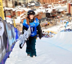 Kelly Marren - Halfpipe Contest at  U.S. Snowboarding Grand Prix 2013