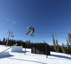 Tomas Materi on the pole at the Sprint Grand Prix at Copper.