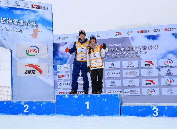 Liu and James won the Secret Garden halfpipe World Cup 2019