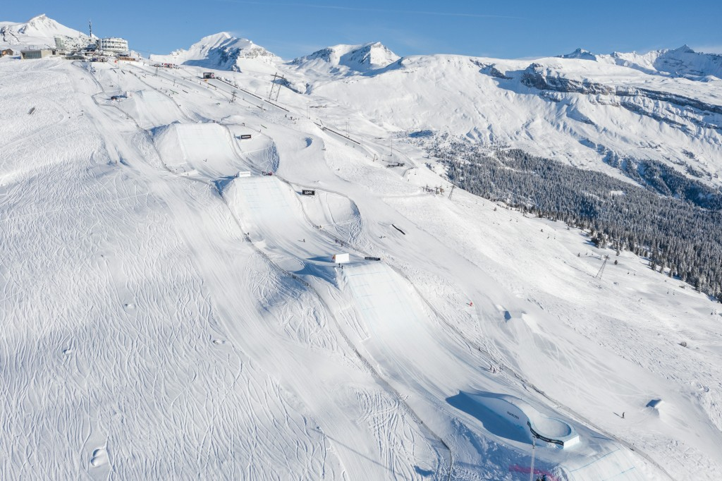 LAAX OPEN 2021 Slopestyle course  Credit: Ruggli